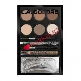 L.A. Colors Kulmus Komplekt I Heart Make Up Light to Medium