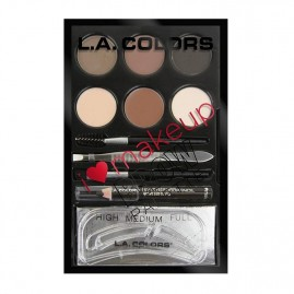 L.A. Colors Kulmus Komplekt I Heart Make Up Medium to Dark