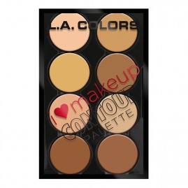 L.A. Colors Kontuurimispalett I Heart Make Up Light to Medium