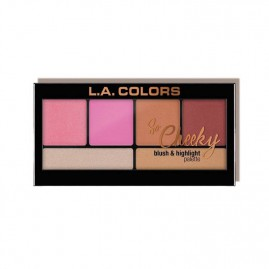 L.A. Colors So Cheeky Blush And Highlight Palett Pink And Playful