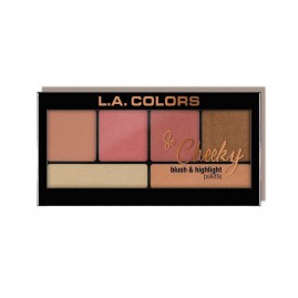 L.A. Colors So Cheeky Blush And Highlight Palett Peaches And Cream