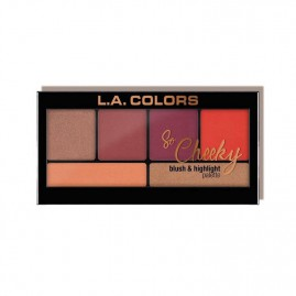 L.A. Colors So Cheeky Blush And Highlight Palett Hot And Spicy