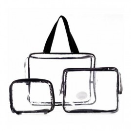 LaRoc Cosmetics Clear Makeup Bag Set (3 tk.)