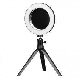 Lamp Ring Light Mini 6' 6W LED + Statiiv