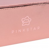 PINK STAR Makeup brush box case (rose gold)