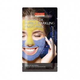 Purederm Galaxy 2X Bubble Sparkling Näomask Yellow And Violet