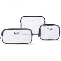 FACE Stockholm Clear makeup bag set (3 tk.)